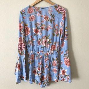 a06ecb2e80b3 Billabong Pants - Billabong Romper Sittin Pretty Blue Floral Print